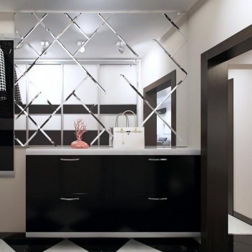 Зеркальное панно для коридора на стену