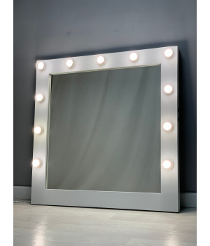 Гримерное зеркало с подсветкой 100х100 см 13 ламп