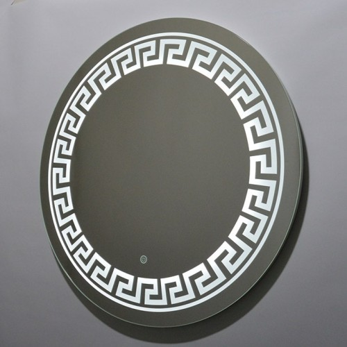 Круглое зеркало в ванну с подсветкой лентой Морган